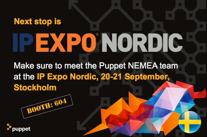 2017-09-20: Meet Puppet at IP Expo in Stockholm