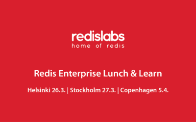 Redis Enterprise Lunch & Learn Roadshow: Fin 26.3. – Swe 27.3. – Den 5.4.