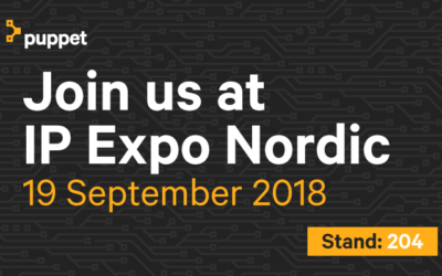 Meet Puppet @ IP Expo Stockholm, Sep 19-20, 2018
