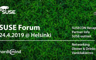 SUSE Forum – 24.4.2019 @ Helsinki